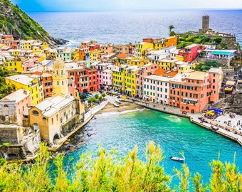 Vernazza Photography, Italy Fine Art Photography, Cinque Terre, Vernazza, Vivid, Colorful, Fine Art Photography, Large Wall Art, Home Decor