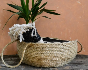 Rope basket, Storage basket, Sisal basket, African basket, Large basket
