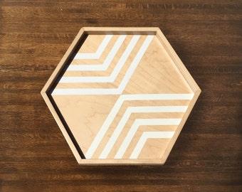 Striped Hexagonal Tray