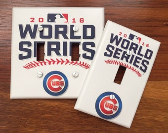 Chicago Cubs 2016 world series baseball MLB sports fan Light switch cover SAME Day SHIPPING!! **