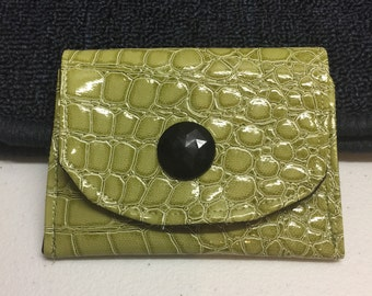 Dog Bait Bag Treat Pouch in Green Crocodile Vinyl