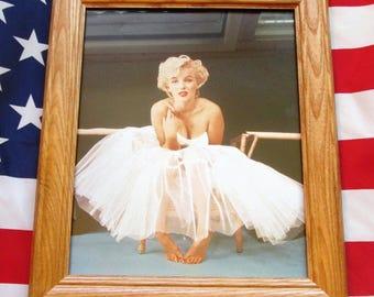 Framed Historic Photograph, Photo, MARILYN MONROE by Milton Green, 1956
