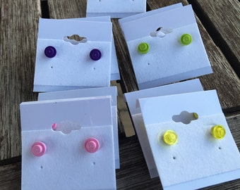 LEGO, Neon, Spike Variety of Stud Earrings Simple Pop Culture