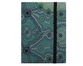 Kindle Paperwhite Case, Kindle Fire HD 6 7 8 Case, Kindle Paperwhite Cover, Kindle Fire Case, iPad Mini Case, Green Australian Aboriginal