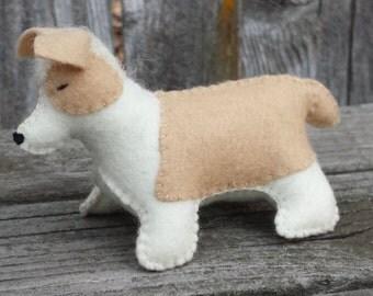 Corgi Dog, Wool Felt Corgi