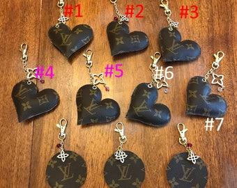 Handmade Louis Vuitton heart or circle purse charm