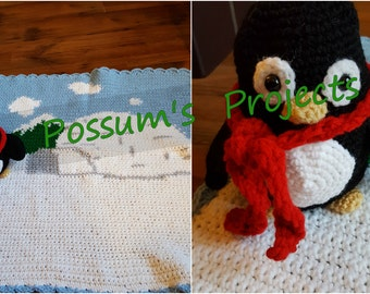 Peter Penguin Buddie and Blanket
