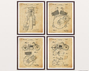 Indian Motorcycle - Indian Motorcycle Art - Indian Motorcycle Patent - Indian Motorcycle Poster - Motorcycle Patent - Motorcycle Art - Biker