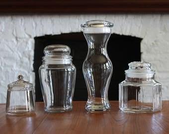 Vintage Lot of 4 Apothecary Display Jars
