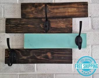 FREE SHIPPING - Fairmount Horizontal Coat Rack Rittenhouse Style by Lane of Lenore - Coat Organizer - Coat Rack - Coat Hanger - Hat Hanger