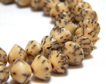8mm Salwag Saucers, Beige Salwag Beads, White Salwag Beads, Saucer Beads, Rustic Beads, Salwag Seed Beads, 8mm Saucer Beads, D-F08
