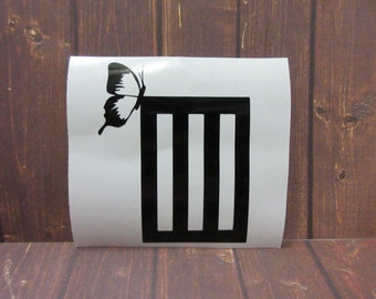 Paramore Logo | 3 Bars + Butterfly | Vinyl Decal