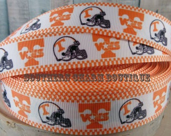 "3 yards of 7/8"" Tennessee Vols grosgrain ribbon"