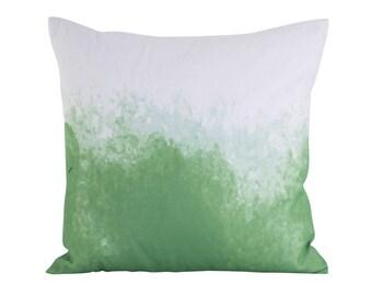 Green and white Scandinavian cushion cover 45cm x 45cm