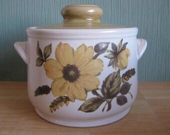 "Sadler Stoneware Casserole Lidded Pot ""Milldale"" design"
