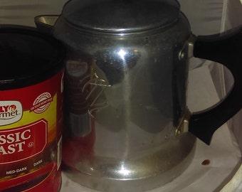 Arrow Aluminium Coffee Pot, Inner Parts Missing