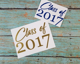 Class of 2017 Decal; Graduation Decal; 2017 Decal; Yeti Decal; Car Decal