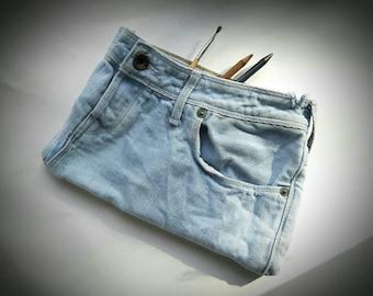Handmade Recycled Denim Pencil Case