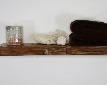 """24"""" x 2"""" x 7"""" deep Reclaimed floating shelf, Pine, antique, unique, 1800's, Industrial, old growth, hardwood"""