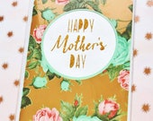 Mother's day floral card / macaron card / glitter card / simple mother's day card