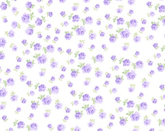 Fidelia Tiny Roses - Purple 2077-27 by Clothworks Cotton Fabric Yardage