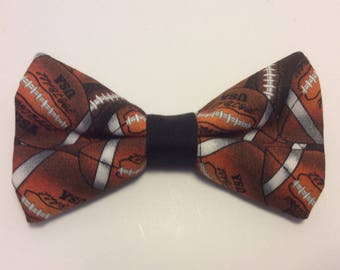 football bow tie pretied men sports brown neckband clip on bowties cotton bow ties men