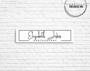 Premade Logo Design / Minimalist Logo/ Photographer Logo / Rectangle Logo / Photography Logo / Business Logo / Watermark/ 134b