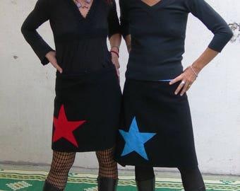 women black cotton skirt Star 3 ways to wear