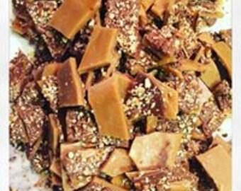 Tasty Good Toffee, Milk Chocolate Pecan Toffee, Handmade: Lincoln, Nebraska, English Butter Crunch Toffee Brittle
