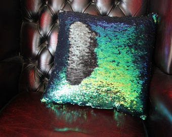 Reversible Sequin (Various Colours)  Mermaid Sequin Cushion  Cover