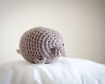 Cute Mystery Manatee Amigurumi Kawaii Sea Cow- Amigurumi Manatee Crochet  OOAK