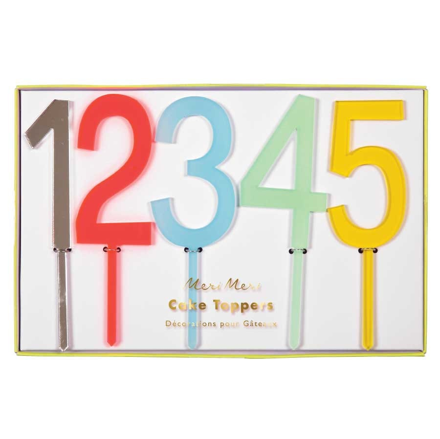 Cake Decor Numbers : Number Cake Toppers set of 20 Meri Meri Cake Picks Rainbow