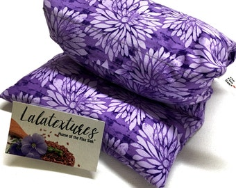 """Microwave Flax Heating Pad, hot cold pack, Choose brushed Flannel or cotton washable covers, Flax seed Bag, Christmas Gift, """"The Flax SaK"""""""