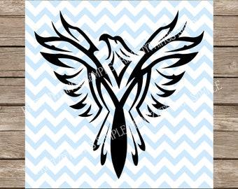 Phoenix SVG, Bird svg, Tattoo svg, Birds svg, Phoenix png, svg files, svg files for cricut, svg designs, svg, heat transfer vinyl designs