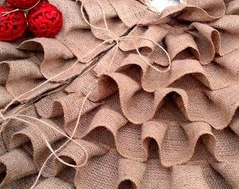 Ruffled Burlap Tree Skirt - Burlap Tree Skirt - Ruffled Tree Skirt - Christmas Tree Skirt - Tree Skirt with Ruffles - Choose Size