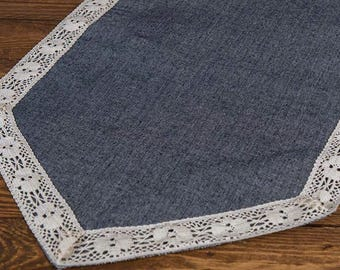Jean Runner - Denim Runner - Table Runner - Blue Jean Runner - Cotton Runner - Home Decor - Table Decor - Choose Length