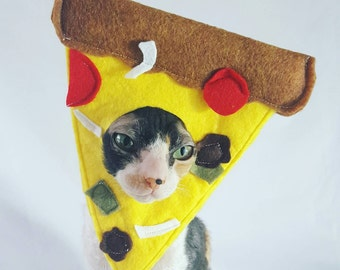 Supreme Pizza Hat for cats and small dogs