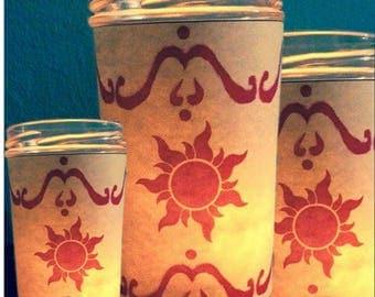 Rapunzel Tangled Floating Lantern Jar Candle Wedding, Engagement, Gift
