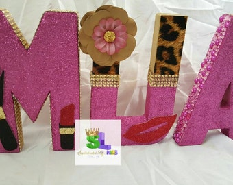 Makeup Artist decorated letters MUA