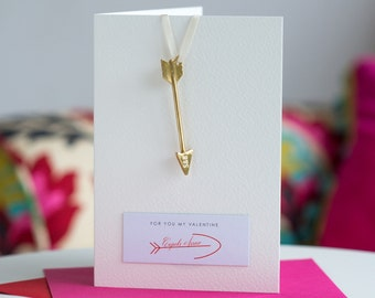 Cupid's Arrow Card, Valentine's Card, Card with Cupid's Arrow, Personalised Card, A6 Card