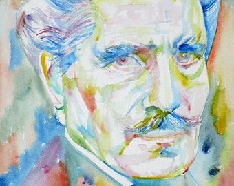 ARTUNO TOSCANINI - original watercolor portrait - one of a kind!