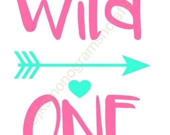 Wild One Arrow Tribal 1st birthday cut file