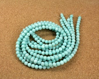 """Amazonite Round Matte Beads - Smooth Teal Beads, 6mm, 16"""" strand"""