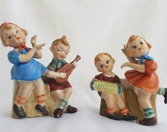 1956 L&M Vintage Children Musicians Little Boys and Girls Figurines