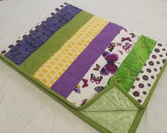 Lap quilt or Girls Baby Blanket