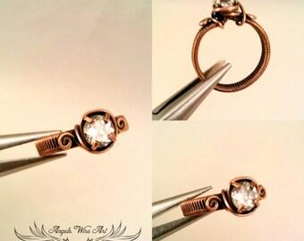 Handmade white sapphire ring