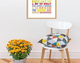 Personalised Print, bespoke to order