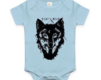 Stay Wild Wolf Baby Onesie