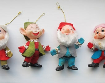 Vintage Christmas decorations. Kitsch tree decorations.