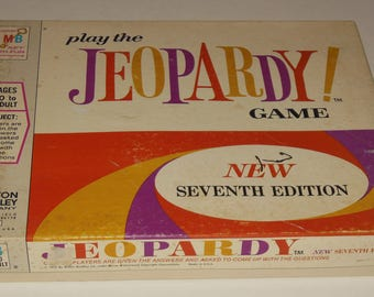 Vintage Jeopardy Board Game 7th Edition  Milton Bradley 1970 Home Version